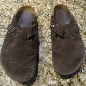 9a7f8d785e34 Birkenstock Suede Leather Clogs size 38 or 8 US